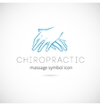 Chiropractic Massage Concept Icon Symbol or Label vector image