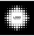 Abstract White Halftone Logo Design Element vector image vector image
