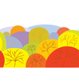 Autumn seamles banner with trees vector image