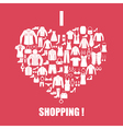 Clothing shoes and accessories icons vector image