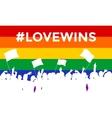 Lovewins LGBT Cheering Crowd vector image