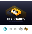 Keyboards icon in different style vector image