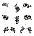 Checkered Flags set vector image
