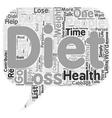 Diet text background wordcloud concept vector image