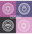 jewelry signs and emblems vector image vector image