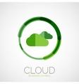 Cloud storage company logo minimal design vector image vector image
