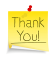 Thank You Sticky Note vector image