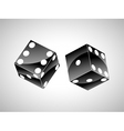 orange dice vector image vector image