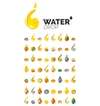 Large set of abstract eco water icons business vector image vector image