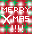 merry xmas dots vector image vector image