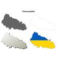 Transcarpathia blank outline map set - Ukrainian vector image vector image