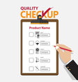 The concept of infographic for product quality on vector image