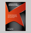 Abstract flyer background vector image