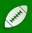american simple football ball paper vector image
