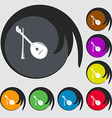Balalaika icon Symbols on eight colored buttons vector image
