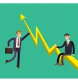 detailed character businessman climbed the vector image
