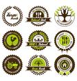 farm fresh label set vector image