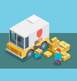isometric delivery service vector image