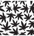 Marihuana ganja weed black and white seamless vector image