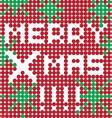 merry xmas dots vector image