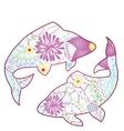 Pisces zodiac sign gradient vector image