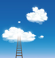 staircase leading to the clouds vector image