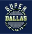 super college football vector image