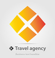 Travel agency business icon vector image