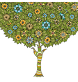 Tree with leaves vector image