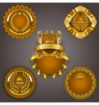 Set of gold vip vector image