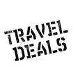 Travel Deals rubber stamp vector image vector image