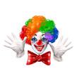 circus clown face colorful realistic portrait vector image