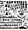 Household items set vector image