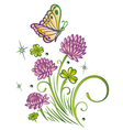 Clover summer time vector image
