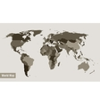 map of the world divided by country vector image