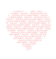 heart made of text vector image vector image