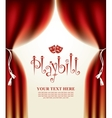 playbill with scenic scenes vector image