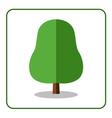 Oak linden tree icon flat vector image vector image