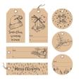 Christmas tags collection vector image
