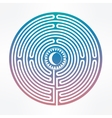 Hand drawn maze labyrinth with sun in it vector image