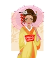 Japanese geisha vector image