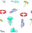 Sea tour pattern cartoon style vector image