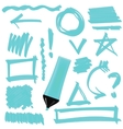 Set of Graphic Signs Arrows Correction Lines vector image