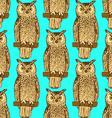 Sketch owl in vintage style vector image