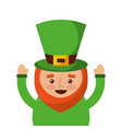 st patricks day portrait of a leprechaun with vector image