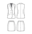 womens vest and skirt vector image