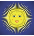 Yellow Cartoon Sun Icon vector image