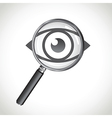 microscope eye vector image vector image