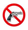 No guns vector image
