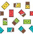 kawaii chocolate seamless pattern colorful vector image vector image